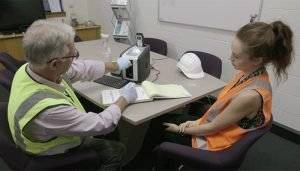 What happens if you fail a workplace drug test? A scene from Integrity Sampling's workplace drug and alcohol testing video.