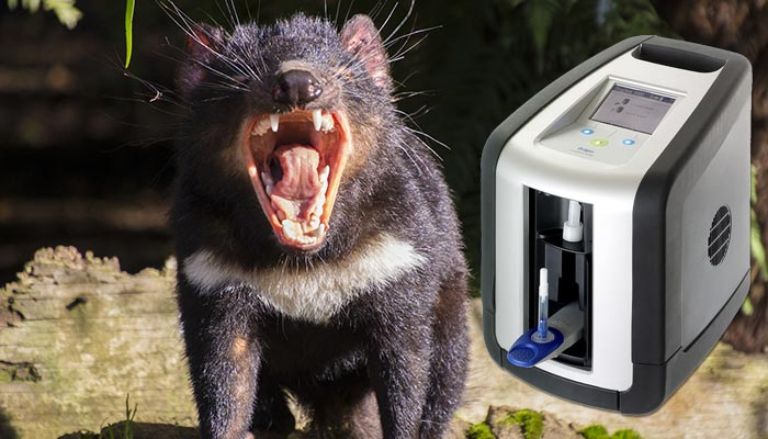 Here's something to shout about! Drug testing in Tasmania goes hi-tech with the Drager DrugTest 5000.