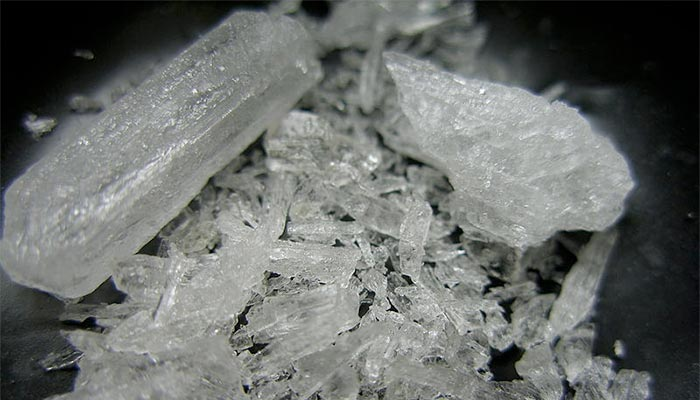 ICE use may be declining slightly, but many people are still caught in roadside drug testing and workplace drug testing with the drug in their systems. Credit Wikimedia Commons https://commons.wikimedia.org/wiki/File:Crystal_Meth.jpg