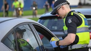 An alcohol testing incident in Victoria's Morwell has led to warnings of the dangers of drinking alcohol to excess. Credit TAC.