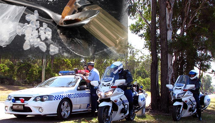 Drug testing in NSW and a record liquid methamphetamine bust has made the headlines across Australia in the past week. Credit Highway Patrol Images https://www.flickr.com/photos/special-fx/4690901400/